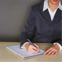 Photo of business lady doing some legal drafting