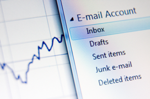 photograph of email inbox for effective emails