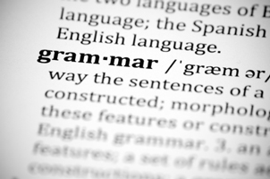 Grammar from the dictionary with Zoom Icon